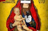 """Les affiches blasphématoires et antichrétiennes du film """"Au nom du Fils"""""""