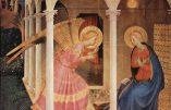 25 mars : l'Annonciation de la Bienheureuse Vierge Marie