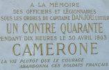 Souvenez-vous de Camerone et des légionnaires du Capitaine Danjou
