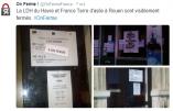 Un compte Twitter OnFerme relaye des actes de sabotage visant les associations immigrationnistes