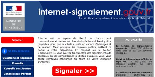 internet signalement