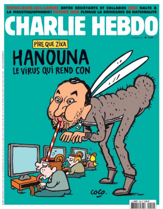 Cyril Hanouna – pour une fois que la une de Charlie hebdo est intéressante, les gens se détournent du journal satyrique. C'est à n'y rien comprendre.