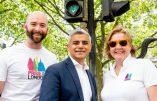 Sadiq Khan, le maire musulman de Londres, met les feux de signalisation au couleurs de la gay pride