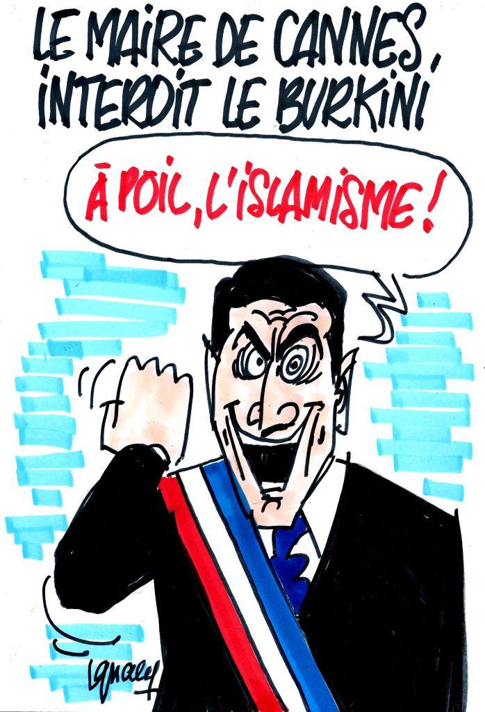 Ignace - Le maire de Cannes interdit le burkini