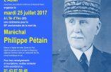 25 juillet 2017 – Cérémonie à L'Ile d'Yeu en mémoire du Maréchal Pétain