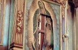 Antichristianisme au Mexique : une femme lacère les tableaux représentant la Vierge de Guadalupe