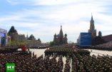 Impressionnante parade militaire sur la place Rouge à Moscou à l'occasion de la célébration de la victoire de 1945