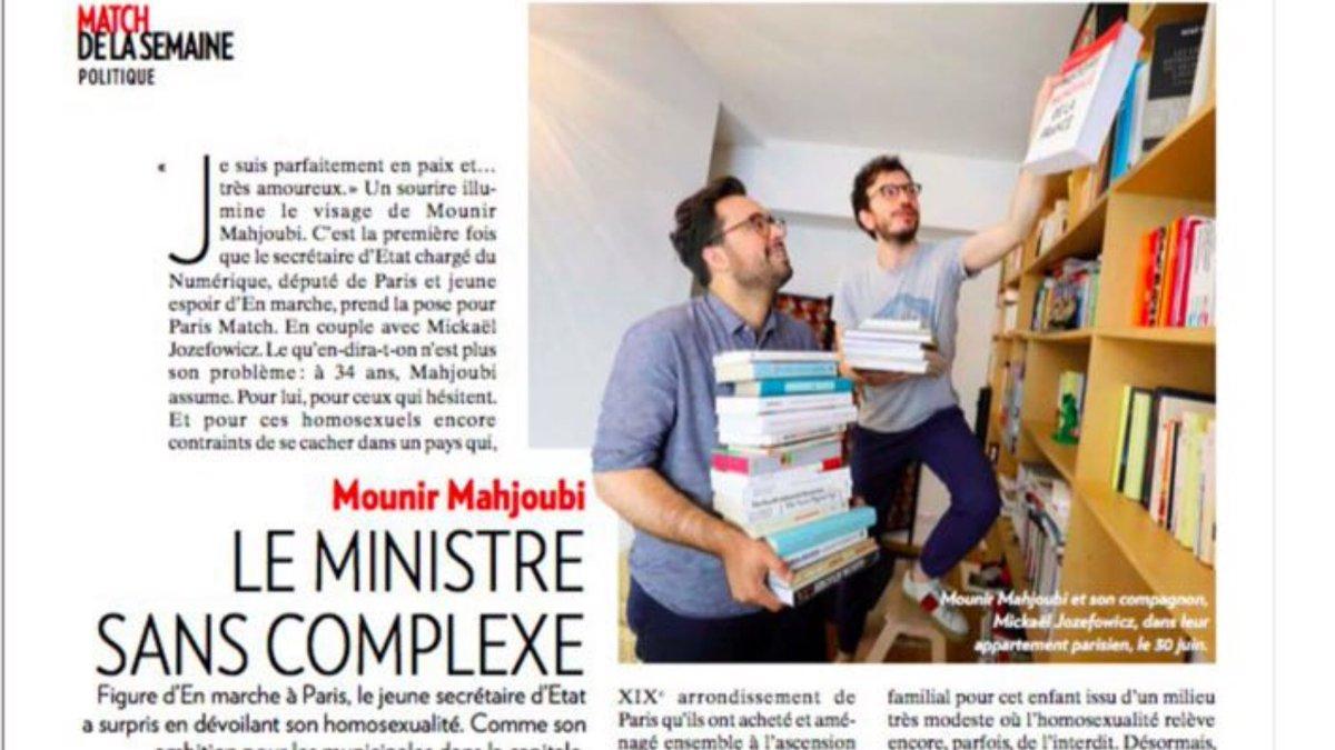 """Le Secrétaire d'Etat pose avec son """"compagnon"""" Mickaël Jozefowicz et se dit tenté par la mairie de Paris"""