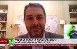 """Tensions entre la Russie et Israël qui, """"contre toute règle internationale, continue de frapper la Syrie"""""""