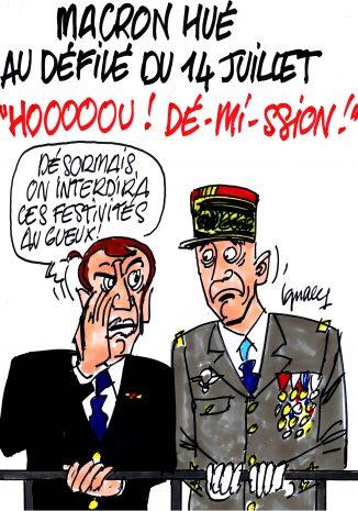 Ignace - Macron hué au défilé du 14 juillet
