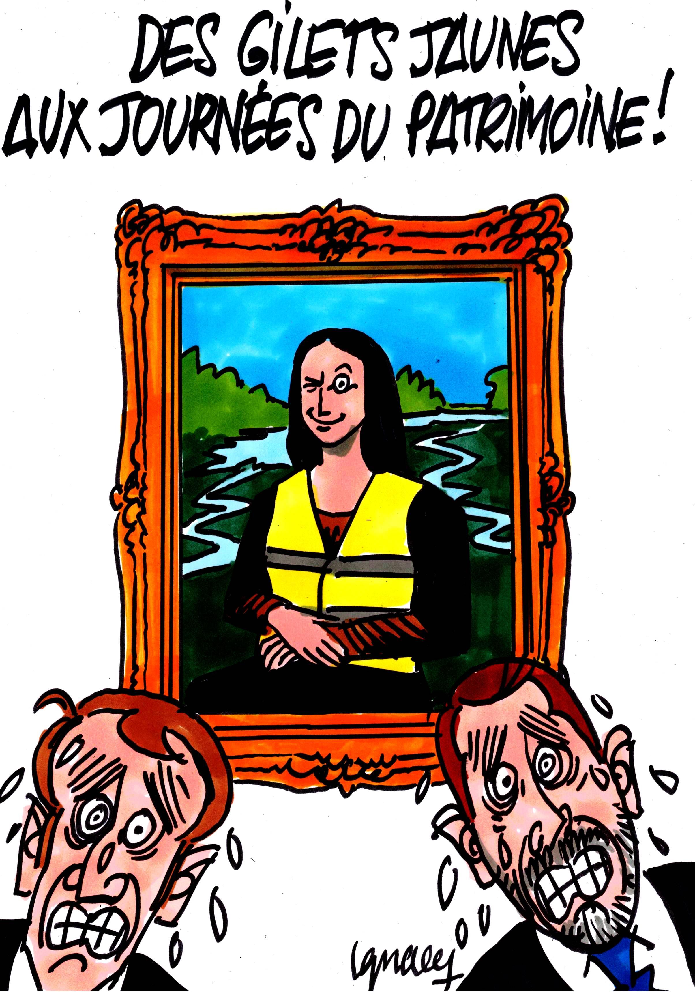Ignace - Gilets jaunes aux journées du patrimoine