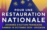 19 octobre 2019 – Journée d'Action française