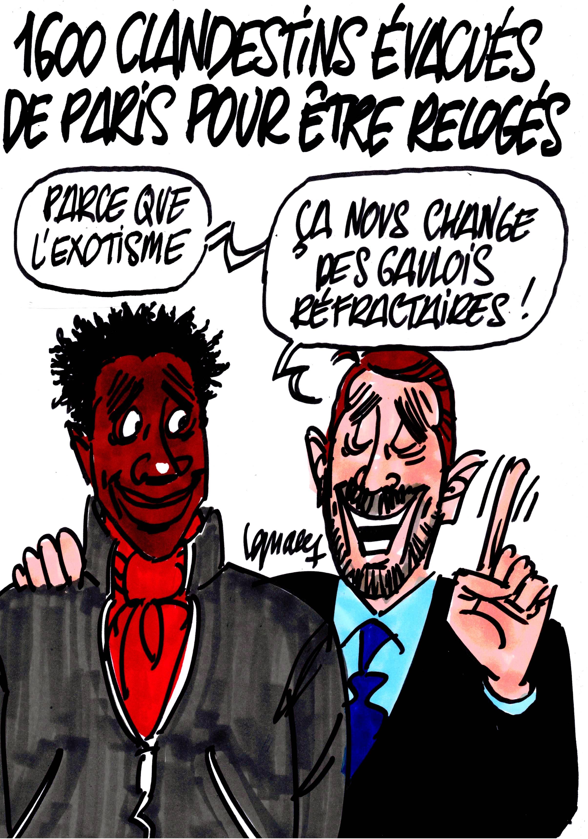Ignace - 1600 clandestins évacués de Paris