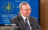 Plateau télé au Parlement européen avec Alain Escada et Stéphanie Bignon