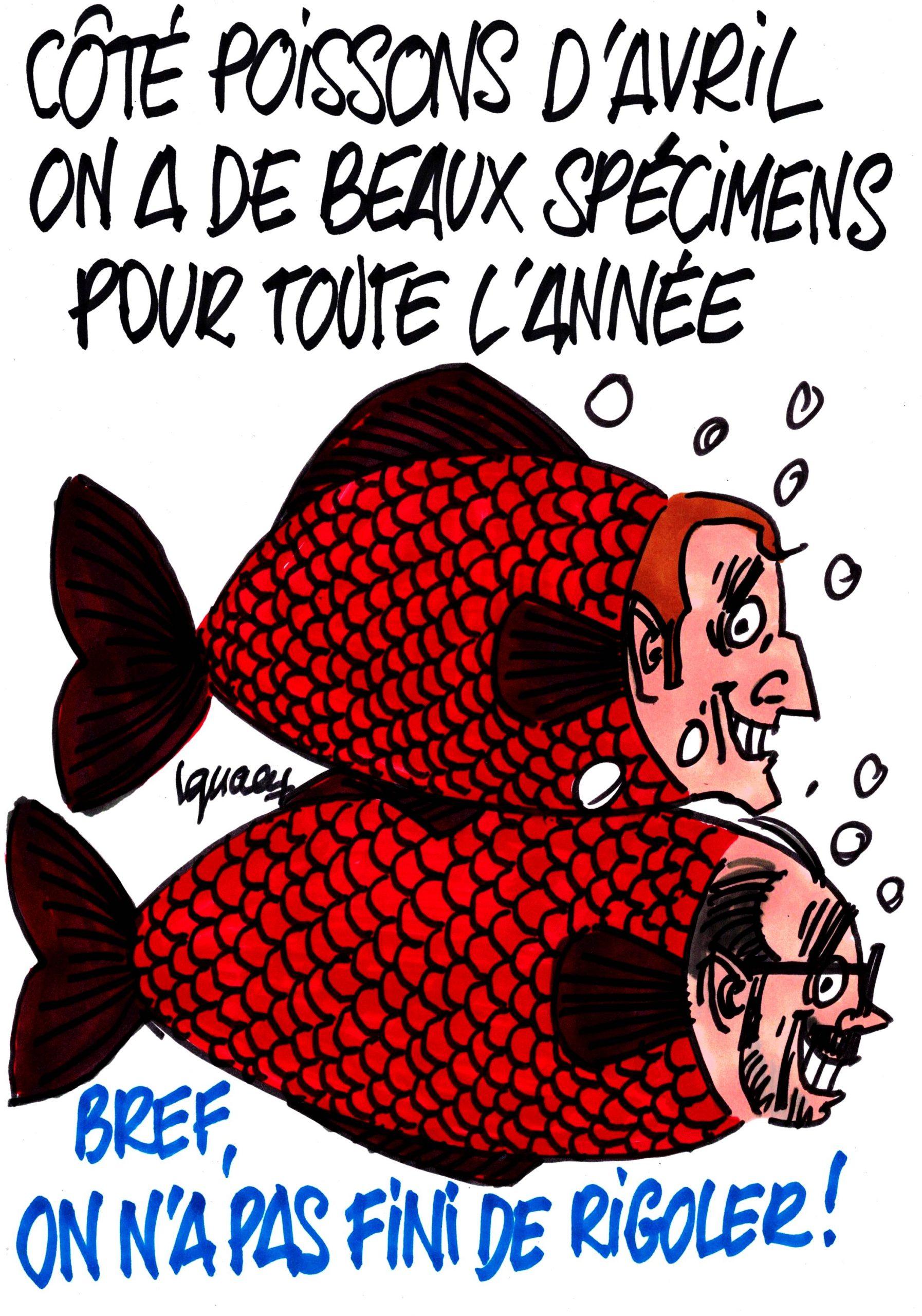 Ignace - Beaux spécimens de poissons d'avril