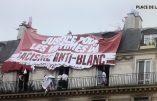 A la manif « Justice pour Adama », une banderole déployée « Justice pour les Victimes du racisme anti-blanc »