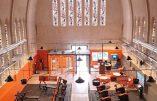 A Caen, une église reconvertie en club de fitness