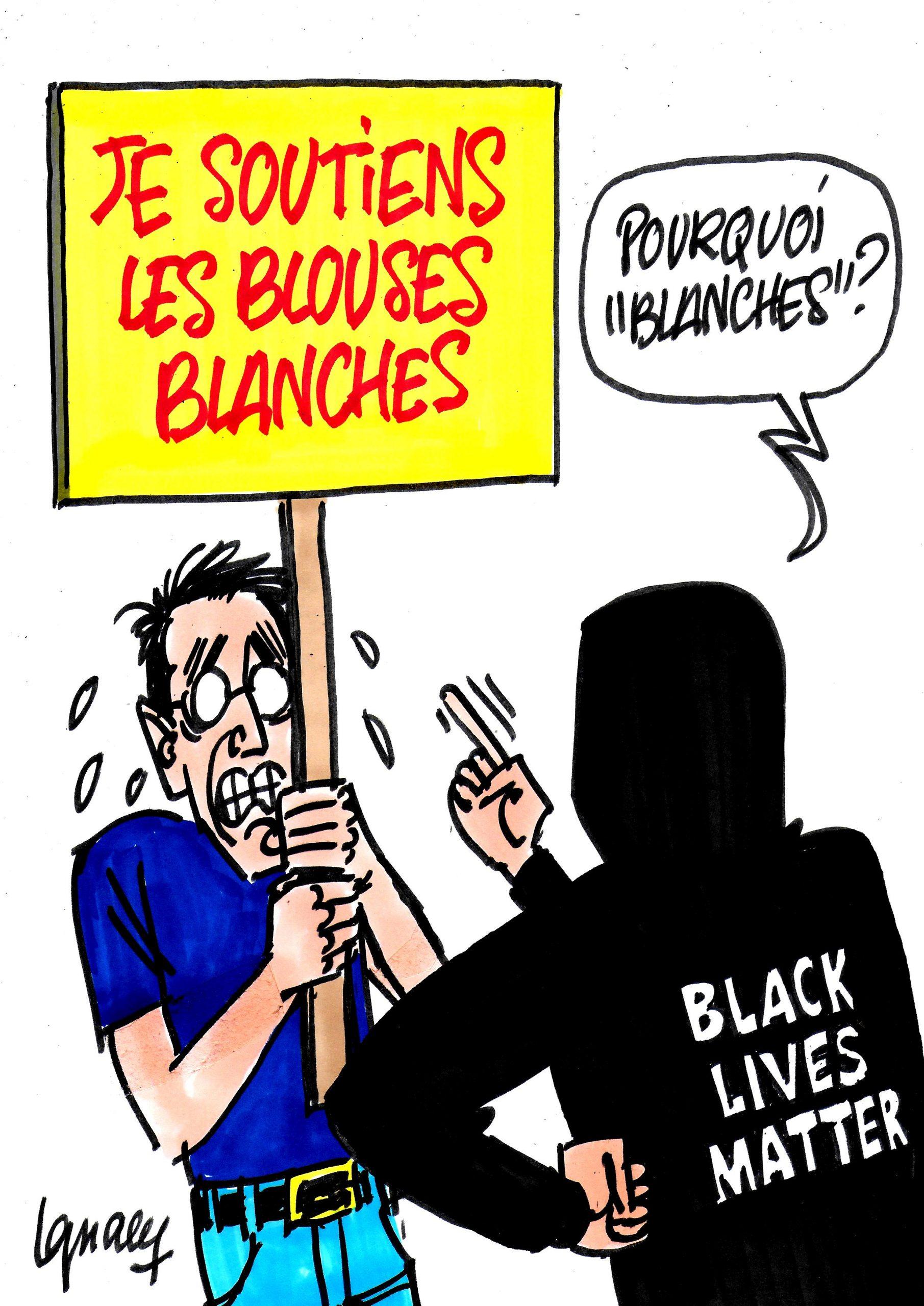 """Ignace - """"Je soutiens les blouses blanches"""""""