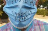 Covid 19 – Le masque dazibao fait des émules contre la dictature sanitaire