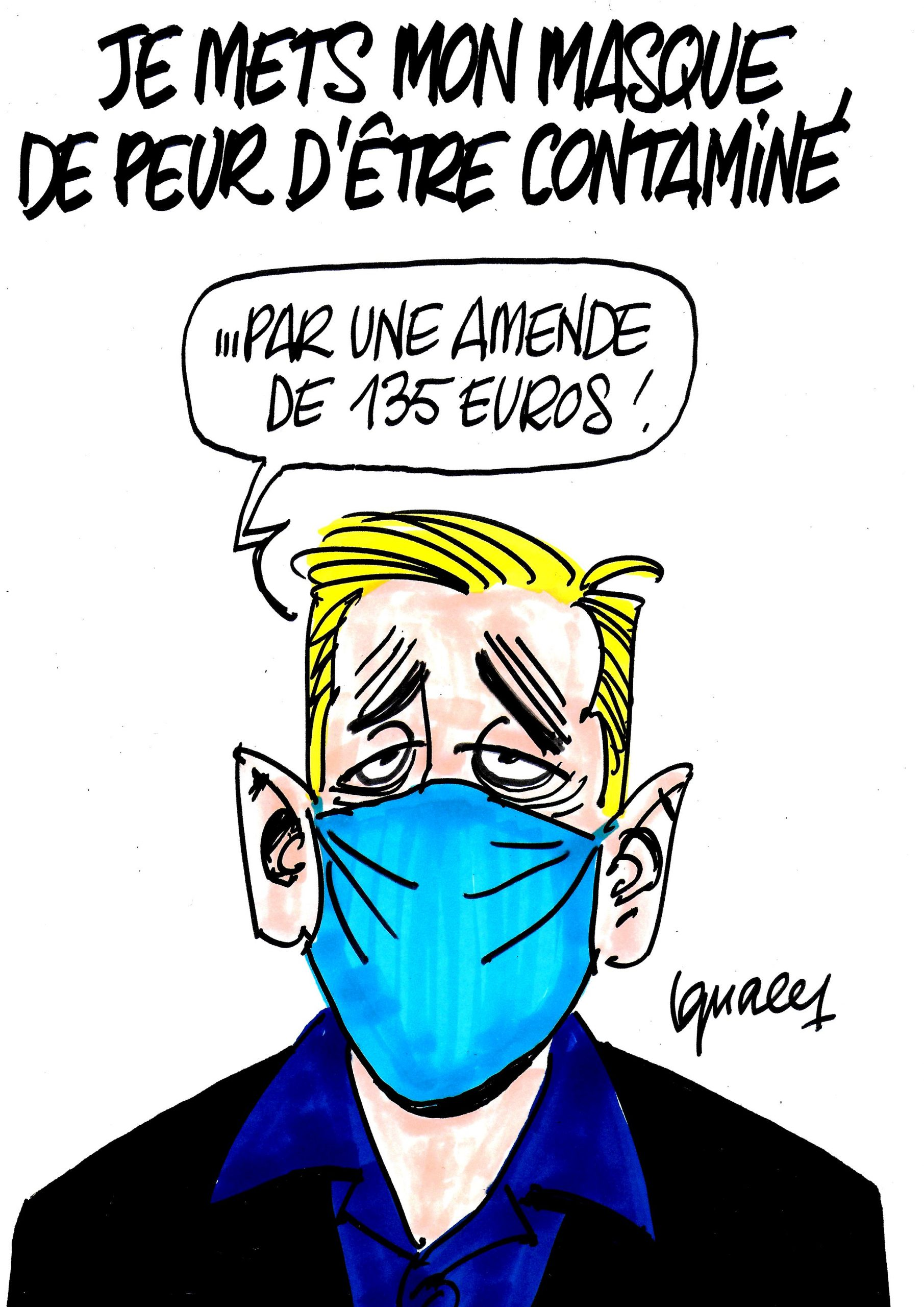 Ignace - Un masque pour ne pas être contaminé