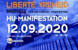 Dictature sanitaire – Manifestation à Bruxelles contre les lois liberticides le 12 septembre 2020
