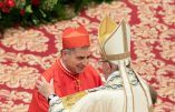 File photo dated June 28, 2018 of Pope Francis appointing new cardinal Angelo Becciu during a Consistory in St. Peter's Basilica at the Vatican. High ranking Vatican official Cardinal Giovanni Angelo Becciu has unexpectedly resigned from office, the Holy See has announced. He previously worked as the second most senior official in the Vatican's Secretariat of State. Cardinal Becciu became involved in a controversial deal to buy a luxury London building with church funds as an investment. The deal has since been the subject of a financial investigation. Photo by Eric Vandeville/ABACAPRESS.COM