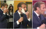 Macron a failli s'étouffer en avalant des particules de son masque
