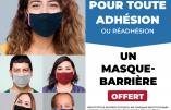 Le mot d'ordre du RN : tous masqués et vaccinés… Marine Le Pen ou Macron, c'est la même tyrannie sous prétexte sanitaire