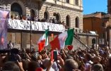 Rome manifeste contre la dictature sanitaire