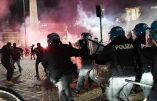 Rome – Manifestation contre le confinement réprimée par la police