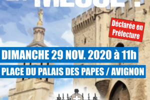 Dimanche 29 novembre 2020 à Avignon – Messe en plein air à 11 H 00 place du Palais des Papes