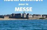 Manifestation à St Malo pour la messe le 15 novembre devant la cathédrale – Nous voulons la Messe