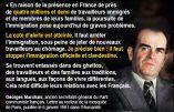 Quarante ans avant Eric Zemmour le chef du Parti Communiste, Georges Marchais, déclarait « Immigration, la cote d'alerte est atteinte ».