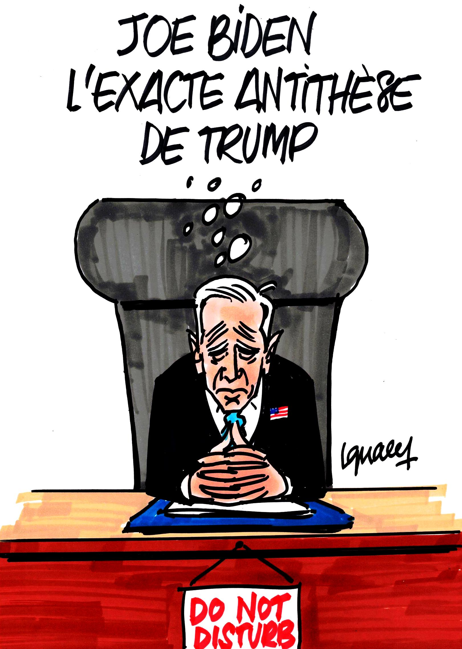 Ignace - Joe Biden, l'exacte antithèse de Trump