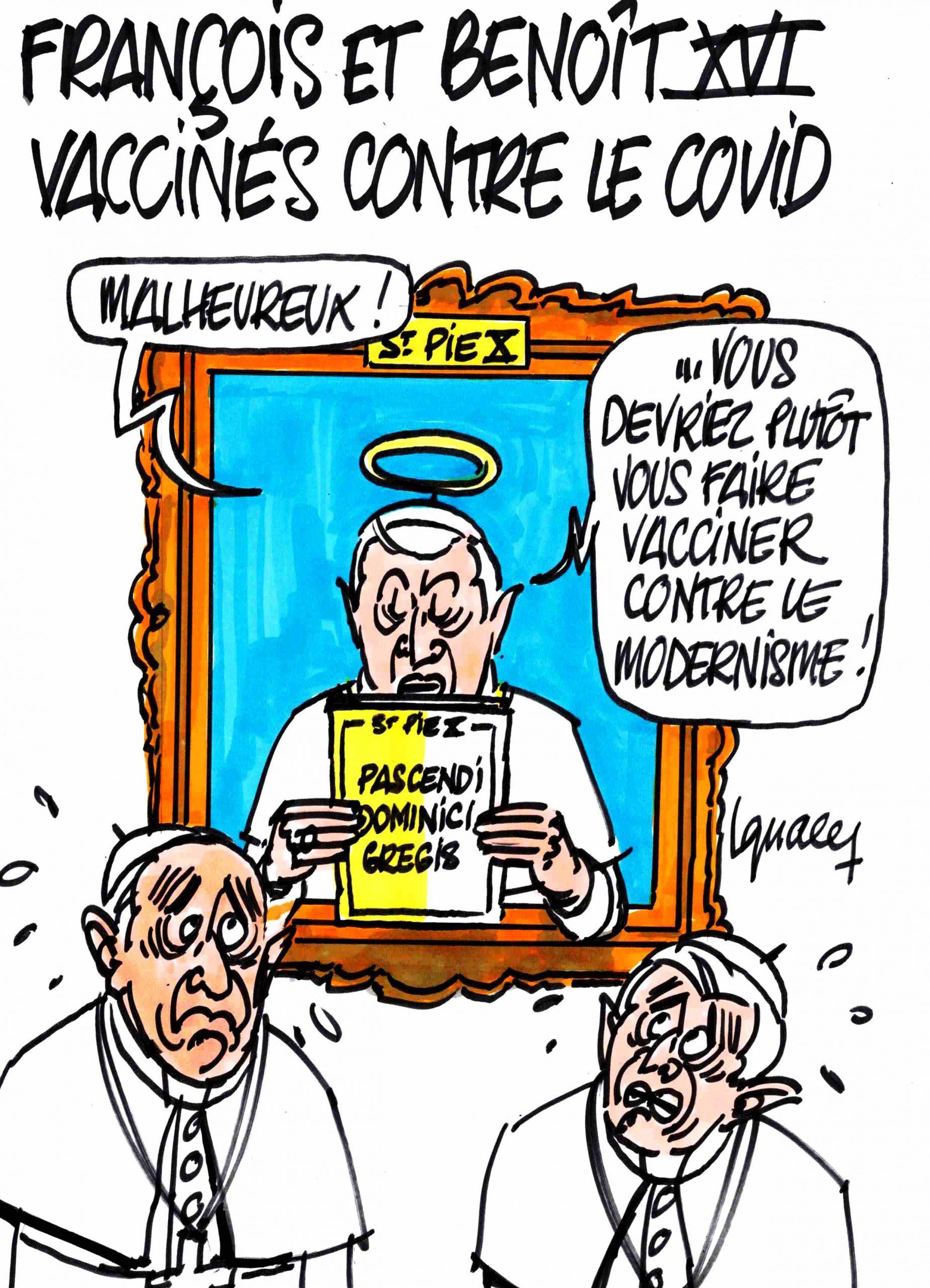Ignace - François et Benoît XVI vaccinés